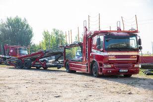 camion bisarca DAF Trailer FA CF75 + rimorchio bisarca