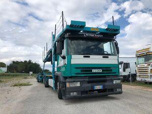 camion bisarca IVECO EUROTECH  bisarca veicoli + biga Rolfo