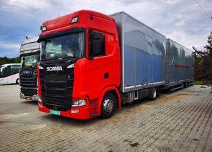 camion bisarca SCANIA s450 zamknięty Geschlossen Transport