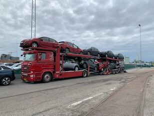 camion bisarca SCANIA 580 V8 KTT Metago/Supertrans 10-Autos Euro6 + rimorchio bisarca
