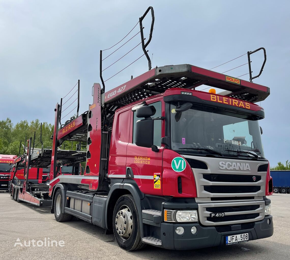 camion bisarca SCANIA P410 N320 ROLFO TVF