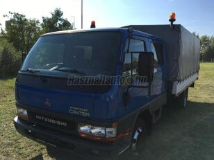 camion centinato MITSUBISHI CANTER DOKA P+P 4m-es platóval
