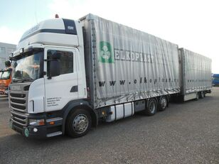 camion centinato SCANIA G440, UNIVERSAL PRITSCHE PLANE, PLATTFORM,BDF + rimorchio centinato