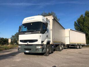 camion centinato RENAULT PREMIUM 420 DCI + biga Omar + rimorchio centinato