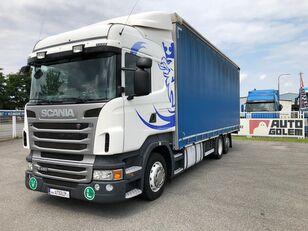 camion centinato SCANIA R420 LB6x2 flatbed