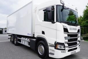 camion frigo SCANIA SCANIA R500, Euro 6, 6x2, 19 EPAL refrigerator , lifting axle, N