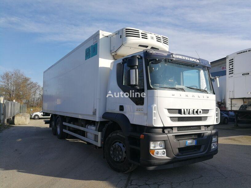 camion frigo IVECO STRALIS 260S36 6X2 CELLA FRIGO 9 METRI, THERMOKING, PEDANA 2 TON