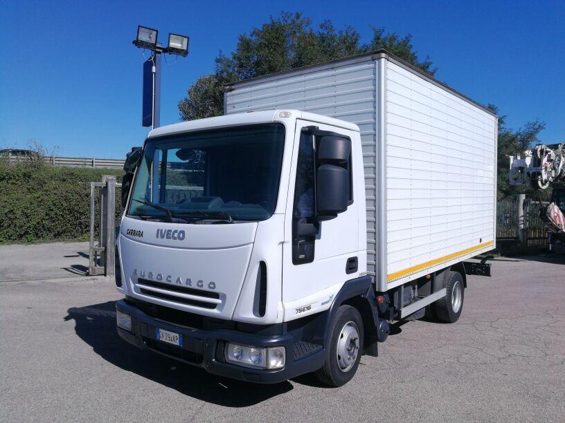 camion furgone IVECO 75E16 EURO 5, FURGONE PASSO 3105, BALESTRATO