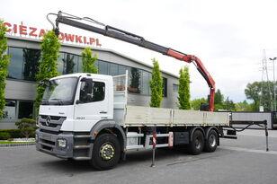 camion pianale MERCEDES-BENZ Axor 2633 , EEV , 6X4 , BOX 7,5m , FASSI 10m / 6.000kg , REMOTE