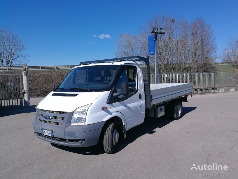 camion pianale FORD TRANSIT 155T350  CASSONE LUNGO 4,25 MT, EURO 5, CLIMA