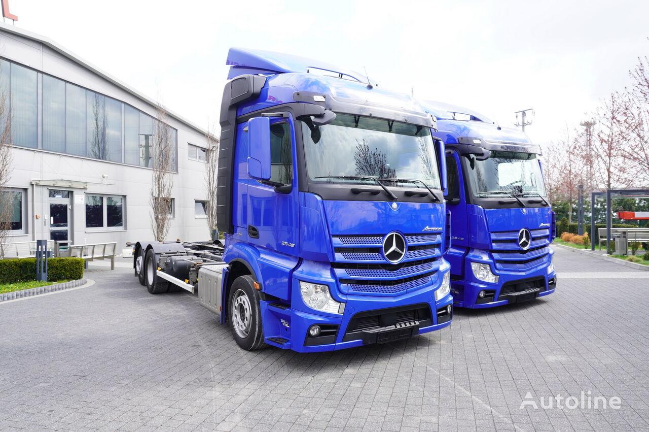 camion portacontainer MERCEDES-BENZ Actros 2548 , E6 , 6x2 , MEGA , 190.000km , BDF / chassis 7,7m