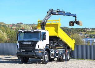 camion ribaltabile SCANIA P360 Kipper 4,80m + HIAB 166B-3 HIDUO *BORDMATIC