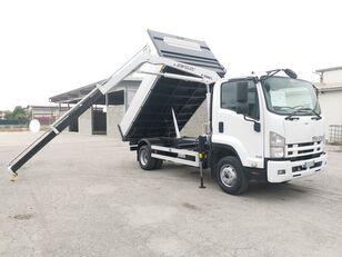 camion ribaltabile ISUZU FRR90 RIBALTABILE TRILATERALE + GRU