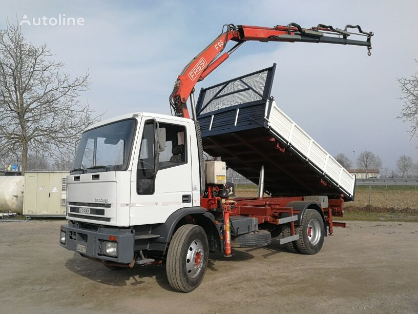camion ribaltabile IVECO 150E18K  RIBALTABILE+GRU