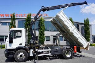 camion ribaltabile IVECO Eurocargo 160E25 , EEV , 4X2 , tipper + Crane , Remote Control
