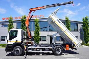 camion ribaltabile IVECO Stralis 310 , EEV , 120.000km , 3 side tipper , bordmatic , Cran