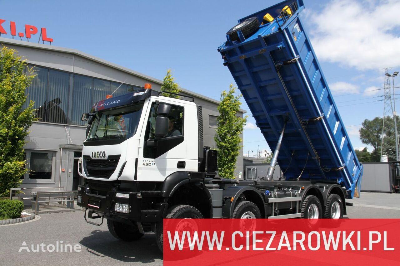 camion ribaltabile IVECO Trakker 450 , E6 , 8x8 , 3-side tipper , retarder