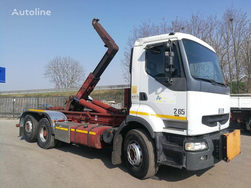 camion scarrabile RENAULT PREMIUM 385.260 6X2  SCARRABILE BTE 26 TON  220000 KM !!!