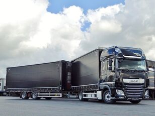 camion telonato DAF XF 450 + rimorchio telonato