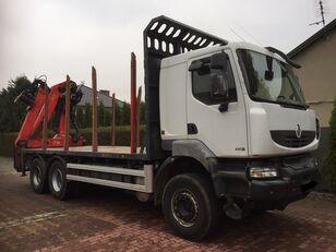 camion trasporto legname RENAULT Kerax 450 DXI