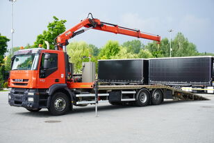 carro attrezzi IVECO Stralis 360, EEV, 6x2, 7.8m tow truck, lift axle , CRANE HIAB ma