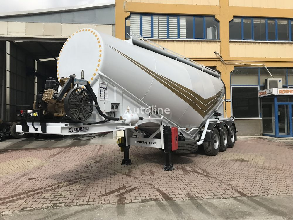 cisterna di cemento EMIRSAN Cement Bulker Trailer with Electrical Compressor nuova