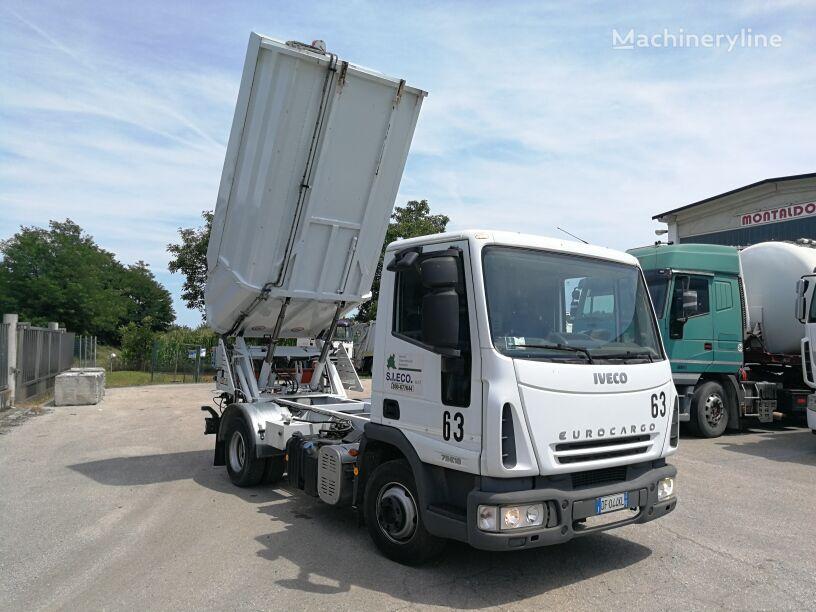 camion dei rifiuti IVECO 75E18P  RSU VASCA RIBALTABILE 10 MC+COMPATTATORE +VOLTACASSONETT