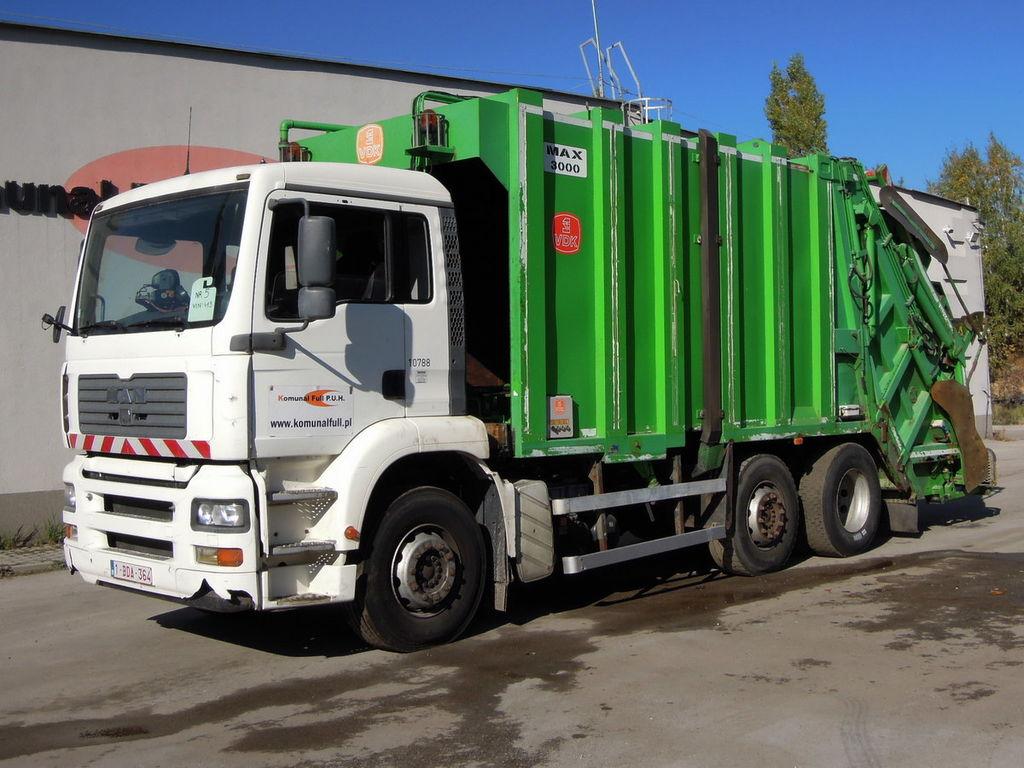 camion dei rifiuti MAN 26-310 Garbage Truck Mullwagen KP7 WAAGE