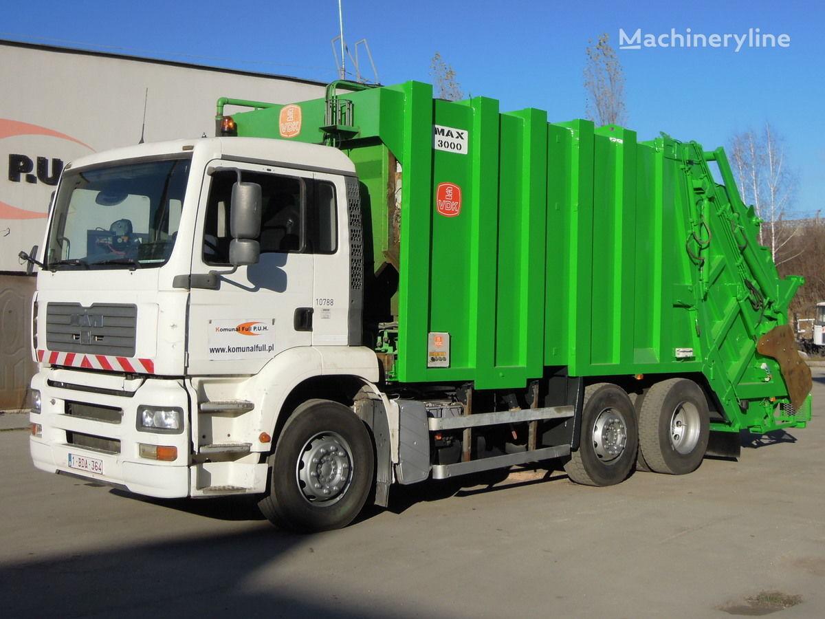 camion dei rifiuti MAN 26-310 TGA Garbage Truck Mullwagen KP7 WAAGE