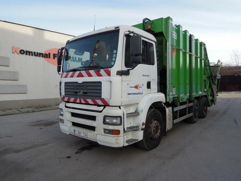 camion dei rifiuti MAN  TGA 26-310 śmieciarka 24m3 bramownica KP7 WAGA