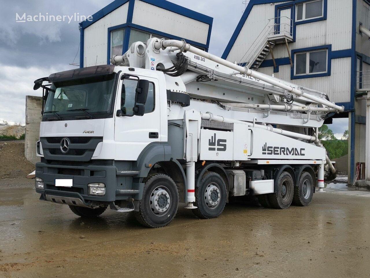 pompa per calcestruzzo MERCEDES-BENZ 4140 8x4 Euro 5, 2016year Sermac 46m Concrete pump, 5RZ46, 150m3