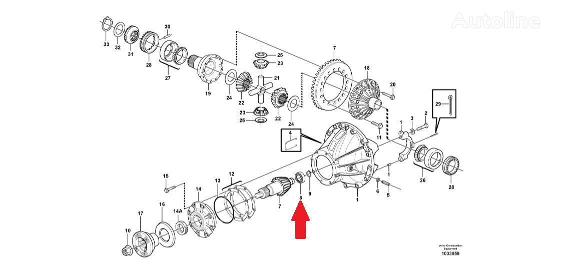cuscinetto VOLVO VOE8172961 (Bearing) per camion VOLVO A35