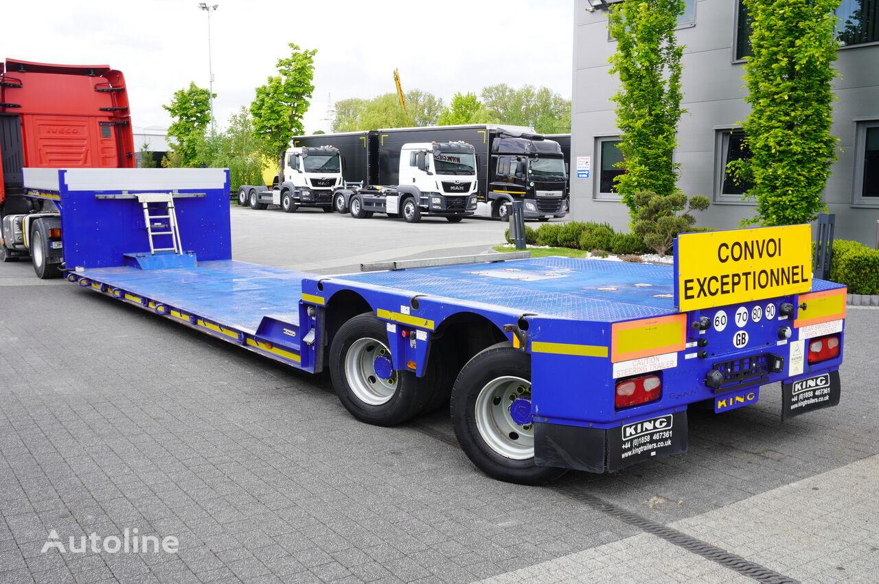 semirimorchio a pianale ribassato KING lowered semi trailer , 2 hydraulic steer axles , remote control