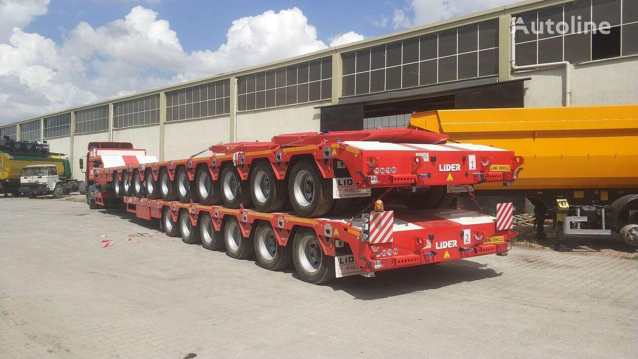 semirimorchio a pianale ribassato LIDER 2021 model 150 Tons caapcity Lowbed semi trailer nuovo