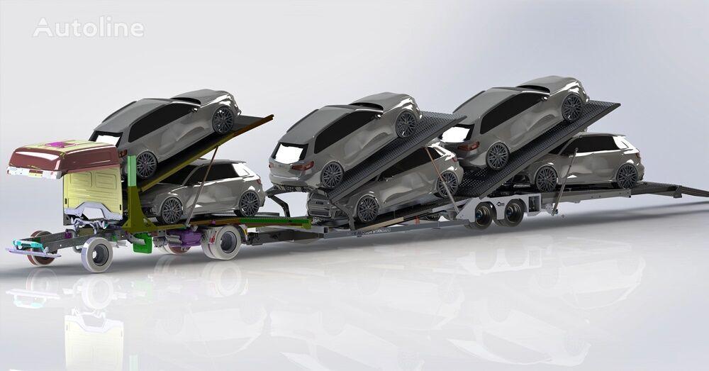semirimorchio bisarca ZABUDOWA AUTOLAWETA PIĘTROWA NA 6 AUT Autotransporter Plattform nuovo