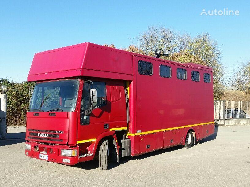 trasporto cavalli IVECO EUROCARGO 90E18P CAVALLI RAMPA POST+LATERALE