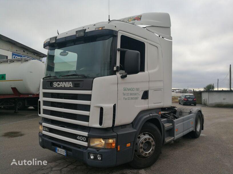 trattore stradale SCANIA CV124.400 R, MANUAL GEAR BOX, MANUAL PUMP, REVISIONE OK!!!